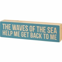 """3"""" x 11"""" Waves Of Sea Wooden Plaque"""