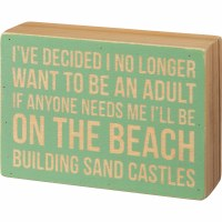 "4"" x 5.5"" Build Sandcastles Wooden Plaque"