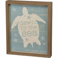 "12"" x 10"" Down By Sea Wall Plaque"