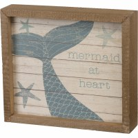 "7"" x 8"" Mermaids At Heart Wall Plaque"
