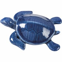 "5"" Dark Blue Ceramic Turtle"