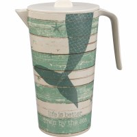 """9"""" Mermaid Melamine Pitcher With Lid"""