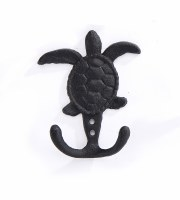 "5"" Black Turtle Wall Hook"