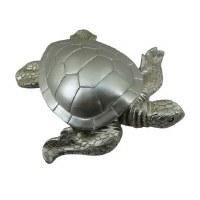 """10"""" Silver Polystone Turtle"""