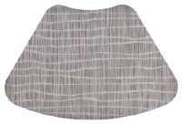 "13"" x 19"" Rectangle Gray Waverly Placemat"