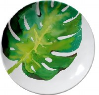 "8"" Round Monstera Plate"