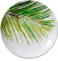 """8"""" Round Palm Frond Plate"""