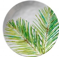 """11"""" Round Palm Frond Plate"""