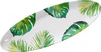 """22"""" Oval Monstera Frond Plate"""