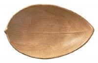 "9"" Oval Brown Banana Leaf"