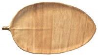 """11"""" x 21"""" Brown Banana Leaf Husk Leaf Tray"""