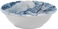 """5"""" Round Faux Blue Marble Bowl"""