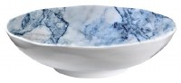 "12"" Round Faux Blue Marble Bowl"