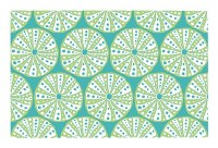 "11"" x 17"" Turquoise and Green Urchin Vinyl Placemat"