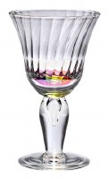 10 fl. oz. Clear With Rainbow Acrylic Venezia Wine Glass