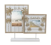 """4"""" x 6"""" and 5"""" x 7"""" Sun Sand Double Picture Frame"""