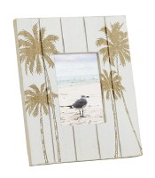 """2"""" x 3"""" White Washed Palm Wooden Picture Frame"""