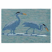 "2'6"" x 4' Blue Heron Lake Rug"