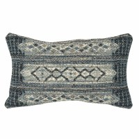 "12"" x 18"" Denim Tribal Strip Pillow"
