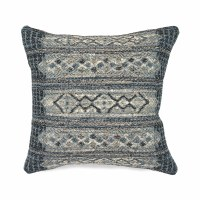 "18"" Square Denim Tribal Stripe Pillow"