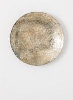 "23"" Round Platinum Mosaic Wall Platter"