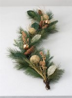 5' Faux Gold Bell Pine Garland