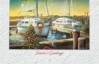 "5"" x 8"" Box of 16 Holiday Harbor Cards"