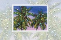 "5"" x 8"" Box of 16 Palm Party Cards"