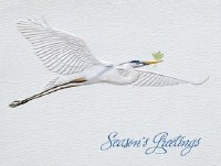 "5"" x 4"" Box of 10 Blue Heron Holly Cards"