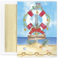 "Box of 18, 8"" x 6"" Preserve The Holidays Warmest Wishes Cards"