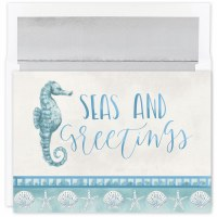 "Box of 18, 8"" x 6"" Seas and Greeting Cards"