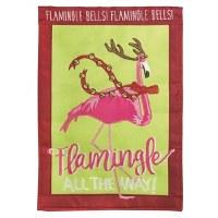 "18"" x 13"" Mini Flamingle Garden Flag"
