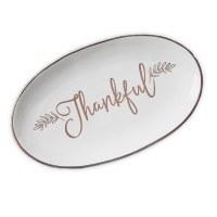 "15"" Oval Thankful Platter"