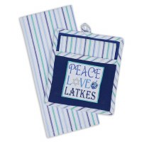Peace, Love, Latkes Pot Holder and Dishtowel Gift Set