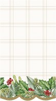 """8"""" x 5"""" Holly Garland Guest Towels"""