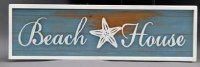 "32"" Beach House With Starfish Adornment Wooden Wall Plaque"