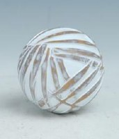 "4"" Frond Polystone Orb"