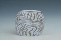 "11"" Frond Design Polystone Vase"