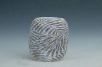 "15"" Frond Design Polystone Vase"
