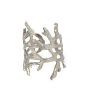 Silver Coral Metal Napkin Ring
