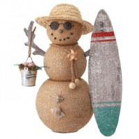 "13"" Sand Man With Surfboard Figurine"
