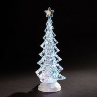 """11"""" LED Clear Battery Operated Tree"""