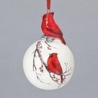 "3"" Cardinal Ball Ornament"
