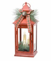 "13"" LED 3 Taper Decorative Lantern"