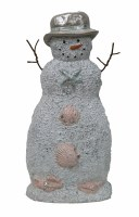"""18"""" Sand Snowman With Silver Hat"""