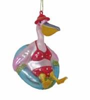 """3.5"""" Pelican Inner Tube Ornament"""