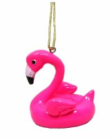 "3.5"" Flamingo Floaty Ornament"