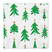 "5"" Square Christmas Trees Beverage Napkin"