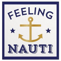 "5"" Square Feeling Nauti Beverage Napkin"