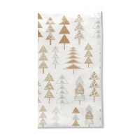 """5"""" x 8"""" Gold and Silver Geo Tree Guest Towel"""